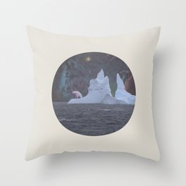 The Lonely Polarcorn Throw Pillow