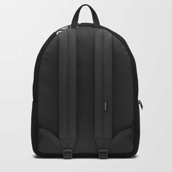 Hi dear ! black and white background . Backpack