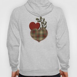 Red & Green Plaid Heart Love Letter Hoody