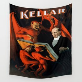 Vintage poster - Kellar the Magician Wall Tapestry