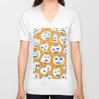pumpkin V-neck T-shirts featuring Pumpkin by Saoirse Mc Dermott