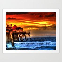 Northside Huntington Beach Pier Art Print