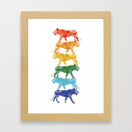 Rainbow Lion Framed Art Print
