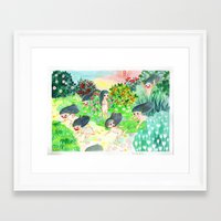 psychedelic Framed Art Prints featuring Psychedelic by Risahhh