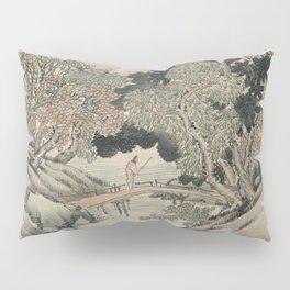 Vintage Japanese Landscape Painting Pillow Sham