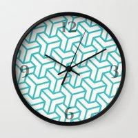 diamond Wall Clocks featuring Diamond by Marta Li