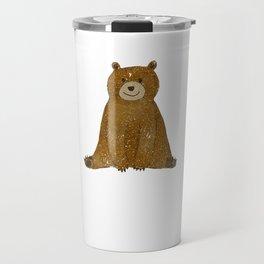 Cute Bear I Love You Like No Otter Funny Travel Mug