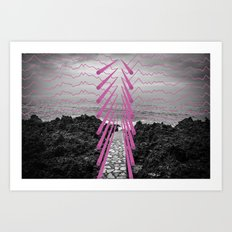 Surreal Beachscape Art Print