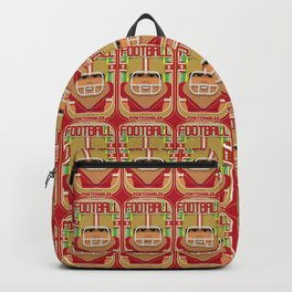 American Football Red and Gold - Enzone Puntfumbler - Seba version Backpack