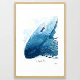 Kingfisher Girl Poster Framed Art Print