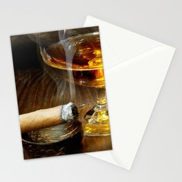 Cigar And Cordial Painting Cigars Stationery Cards