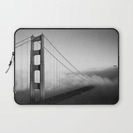 Golden Gate Bridge   Black and White San Francisco Landmark Photography Shot From Marin Headlands Laptop Sleeve