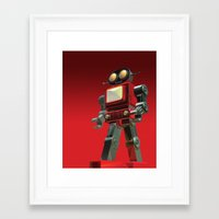 robot Framed Art Prints featuring Robot by David Luscombe