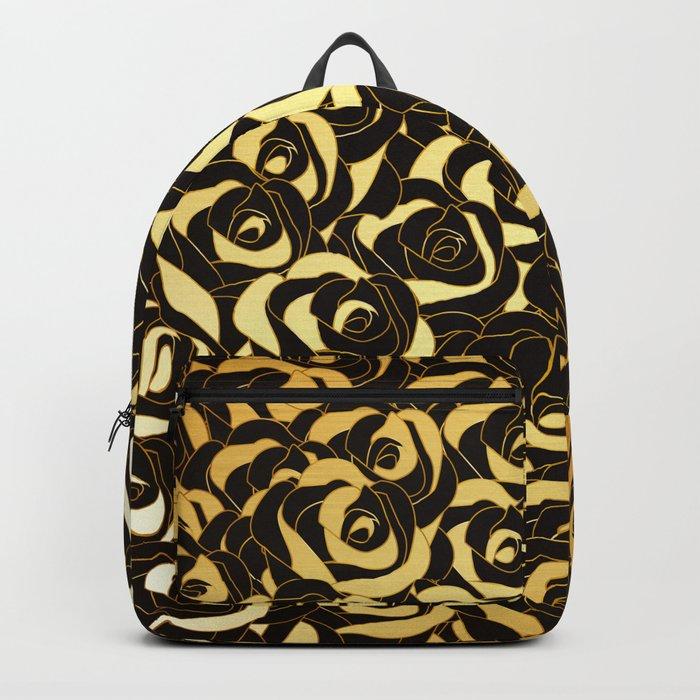 Golden Roses Backpack