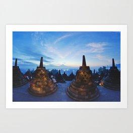 Borobudur temple @ dawn Art Print