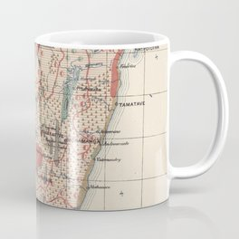 Vintage Geological Map of Madagascar (1922) Kaffeebecher