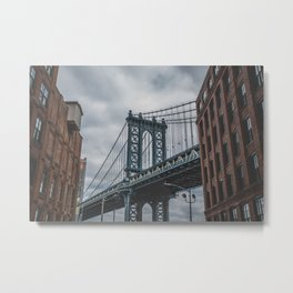 Manhattan Bridge, New York City Metal Print