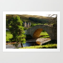 Cairngorms Natural Park, in the heart of the Scottish Highlands Art Print