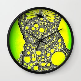 Abstract Cookie Monster - enhanced Wall Clock