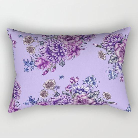 Vintage Purple Florals Rectangular Pillow