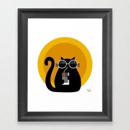 """Cats like sun"" by Qora & Shaï Framed Art Print"