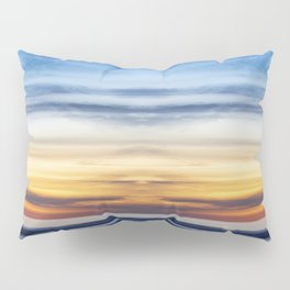 Cloudy Abstract Seascape Reflection Pillow Sham