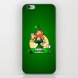 St. Patrick's Day Irish Maiden iPhone Skin