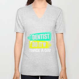 Dentist Toothbrush Teeth Practice Hygiene Unisex V-Neck