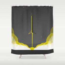 Falcon 9 Heavy Launch Shower Curtain