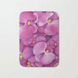 Watercolour Orchid Bloom Bath Mat