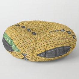Multiplication Chart 15 Fifteen X Table Black White Maths Floor Pillow