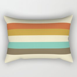 retro color palette Rectangular Pillow