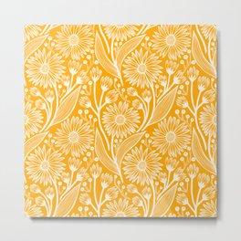 Saffron Coneflowers Metal Print