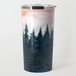 Forest Under the Sunset Travel Mug