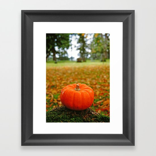 Autumn orange Framed Art Print