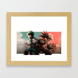Midoriya Bakugo Framed Art Print
