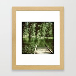 Through The Bridge Framed Art Print