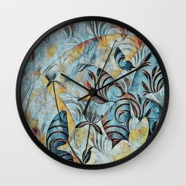A Butterfly Abstract Wall Clock