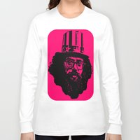 literature Long Sleeve T-shirts featuring Outlaws of Literature (Allen Ginsberg) by Silvio Ledbetter