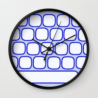computer Wall Clocks featuring Computer keyboard by Sofia Youshi