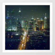 Electric City 3 Art Print