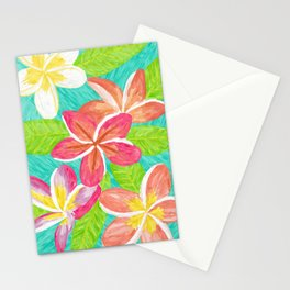 Plumeria love Stationery Cards