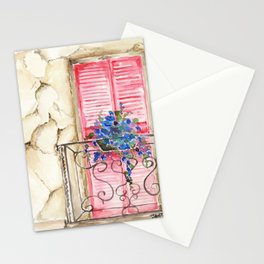 Balcony in France Stationery Cards