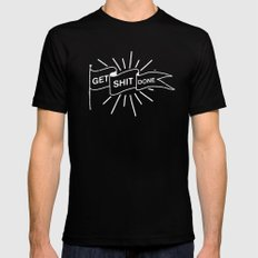 GET SHIT DONE MONOCHROME MEDIUM Mens Fitted Tee Black