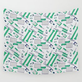 Murder pattern Green Wall Tapestry