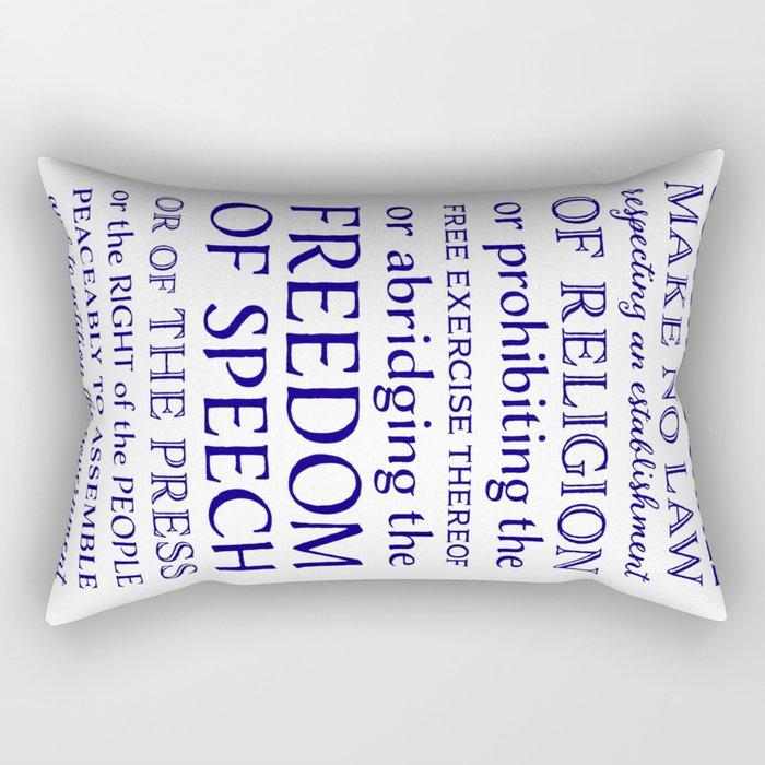 Defend Your Freedom of Speech Rectangular Pillow