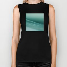 Fantasy Space Lines 1 Turquoise Biker Tank