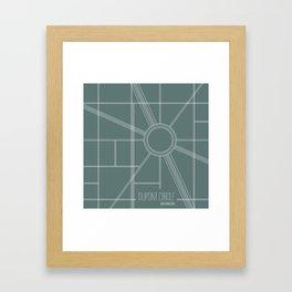 Washington DC Intersection Framed Art Print