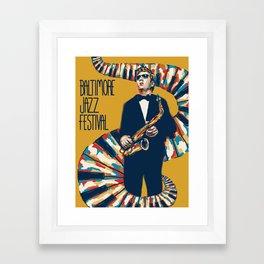 Jazz Festival Poster Framed Art Print