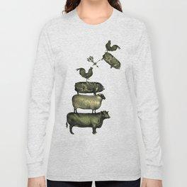 Farm Living - Stacked Animals Long Sleeve T-shirt